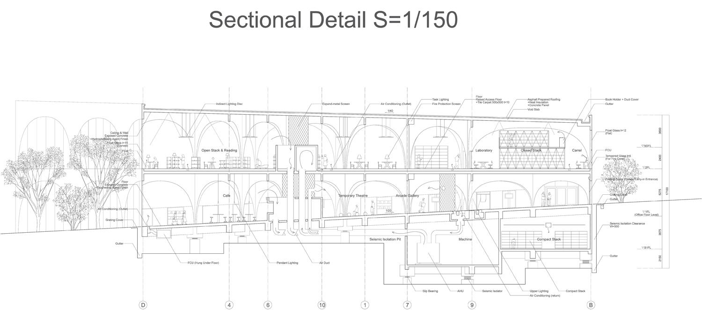 Architectural drawings tama art university library for Full size architectural drawings