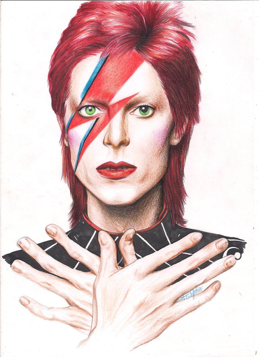 David Bowie Art illustration