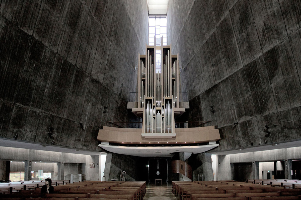 St mary 39 s cathedral in tokyo kenzo tange archeyes for Architecture tokyo