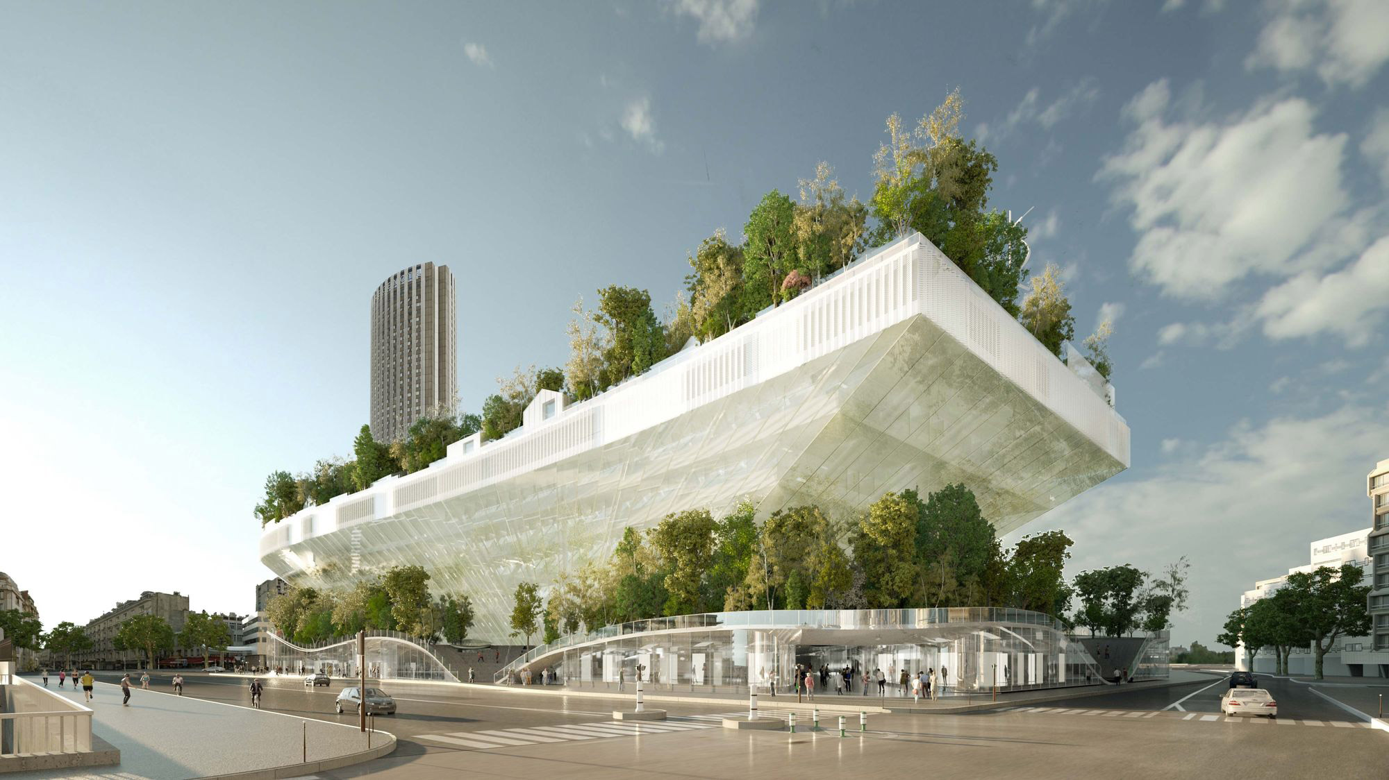 Milles arbres in paris sou fujimoto oxo architectes for Architecte paris