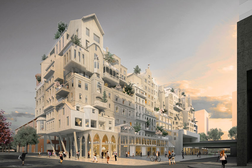 housing project for paris mt peripheriques architectes. Black Bedroom Furniture Sets. Home Design Ideas