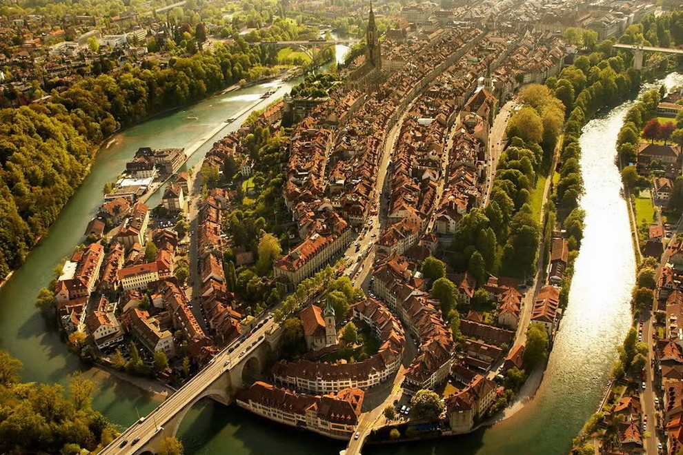 Bern Switzerland Aerial View
