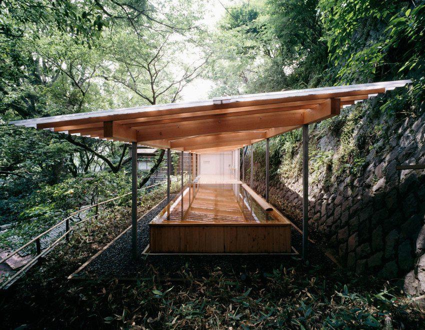 Horai Onsen Bath House / Kengo Kuma