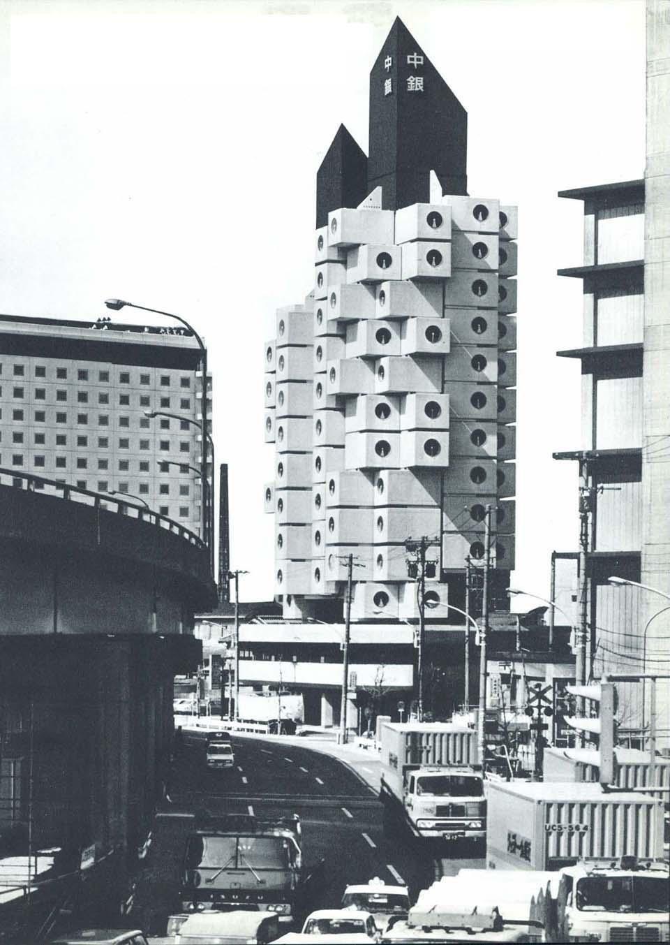 Nakagin Capsule Tower In Tokyo Kisho Kurokawa Archeyes