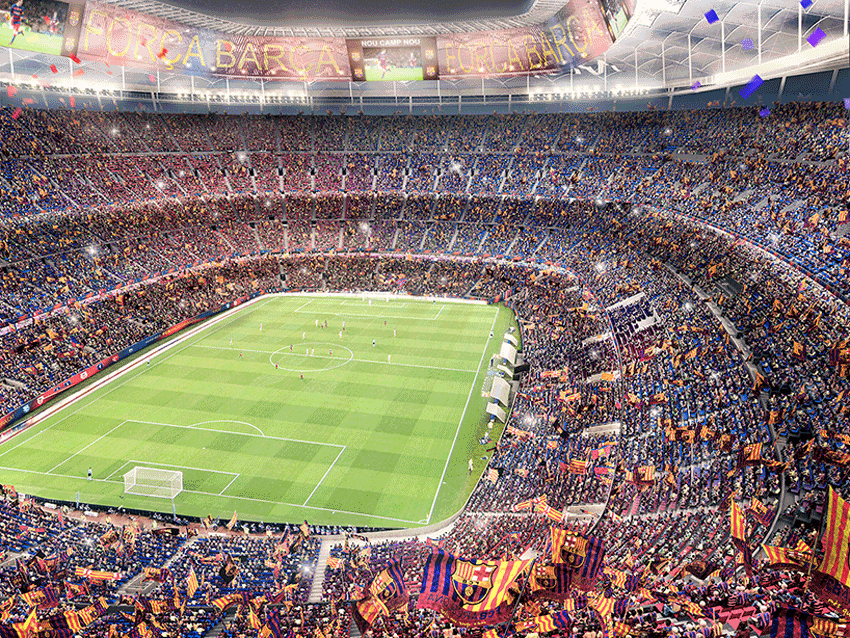 New Camp Nou Stadium Interior