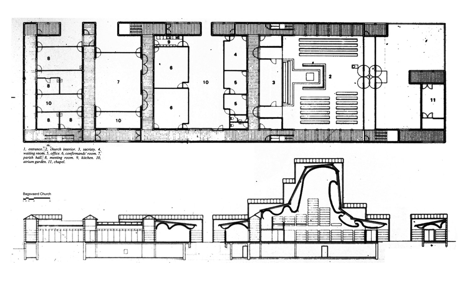 Sample Front Elevation Worship : Church designs and floor plans plan of new parish