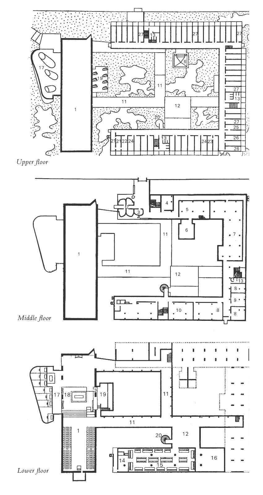 Floor Plans of Le Corbusier St Marie de La Tourette