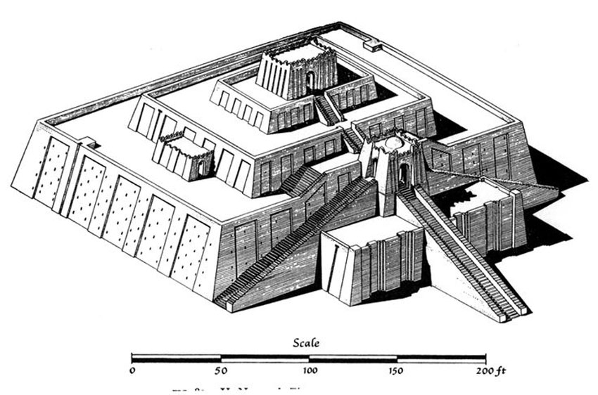 Ziggurat Temples Architecture Mesopotamia on window diagram