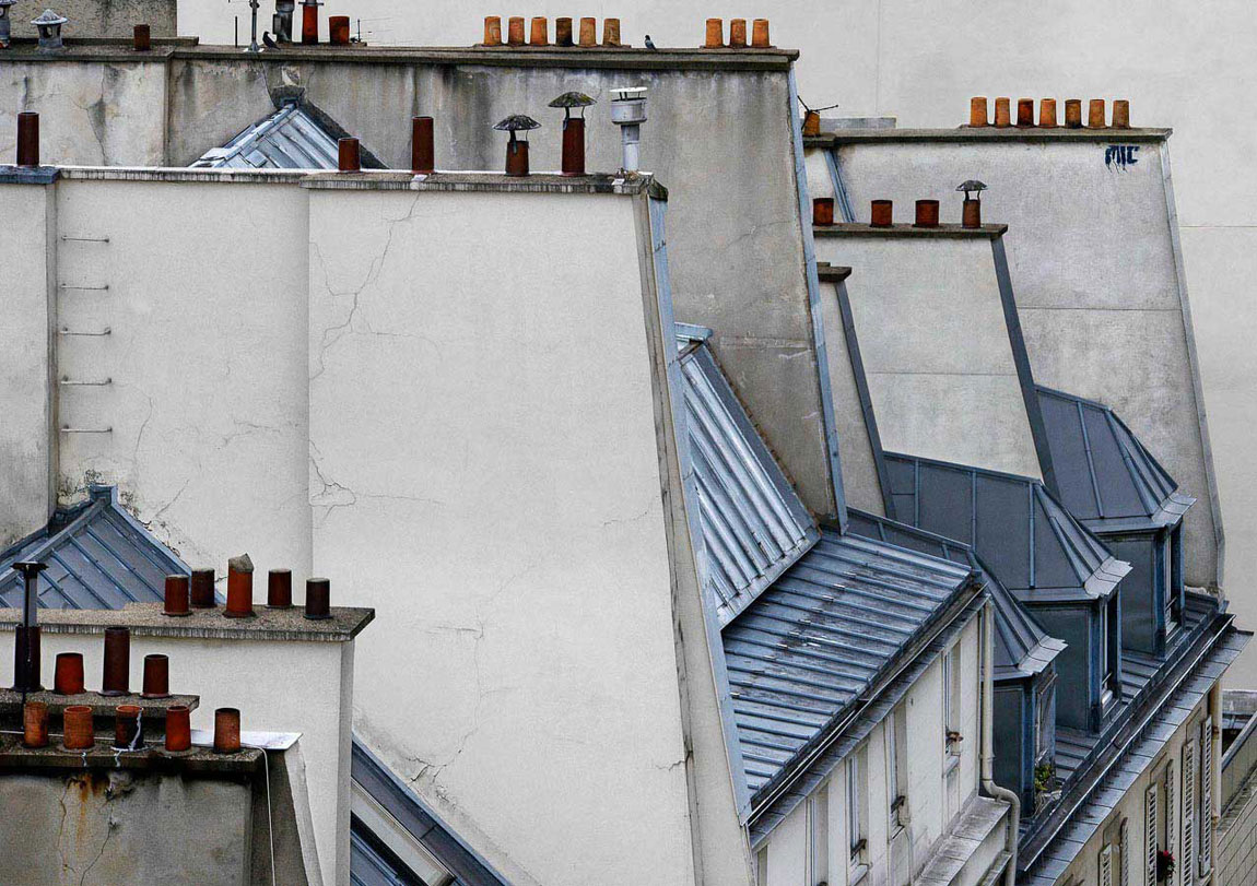 Parisian Rooftops Photographed by Michael Wolf