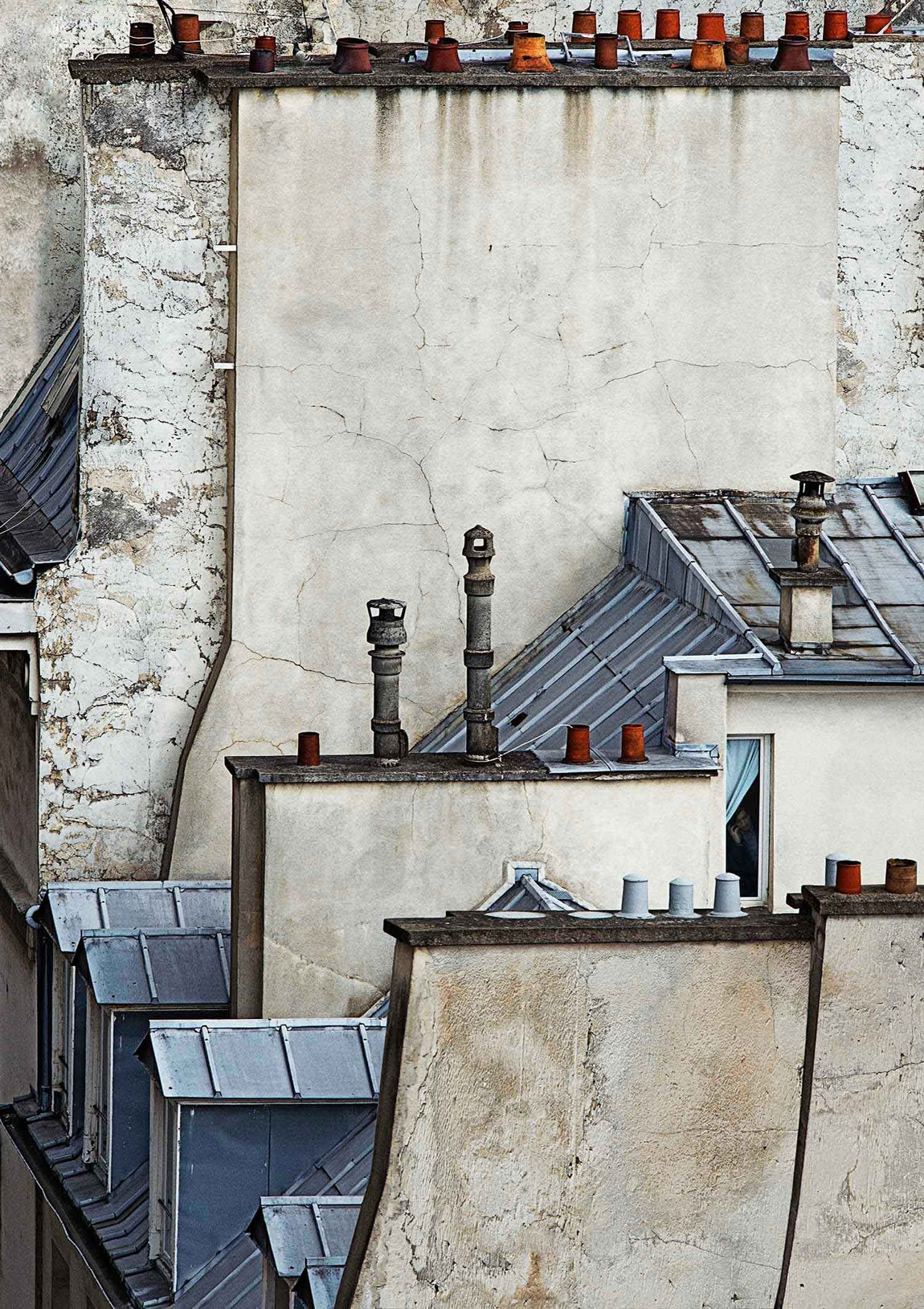 Surreal Photographs Of Paris Rooftops By Michael Wolf