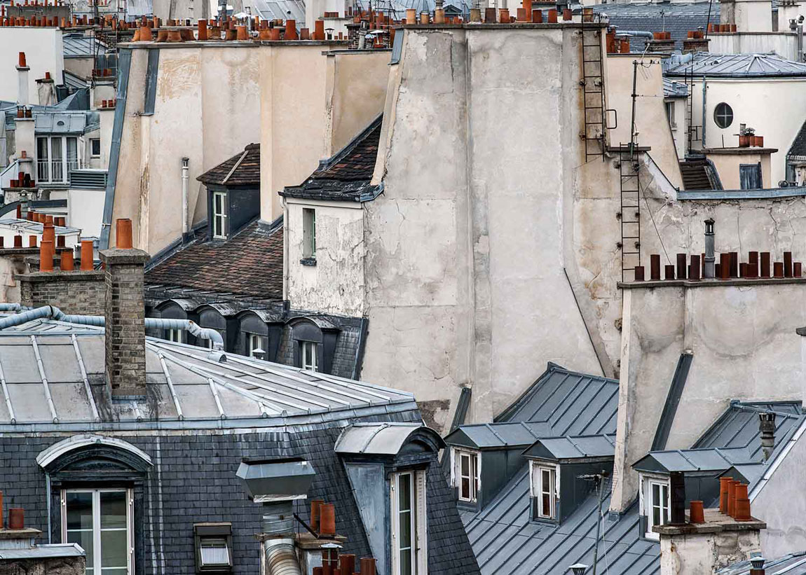 surreal photographs of paris rooftops by michael wolf archeyes. Black Bedroom Furniture Sets. Home Design Ideas
