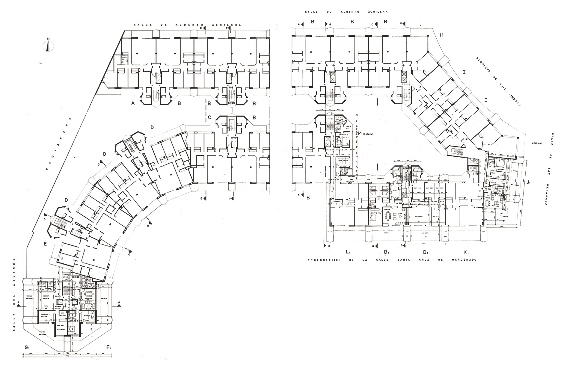 Princesa Apartments Plans / Fernando Higueras + Antonio Miró