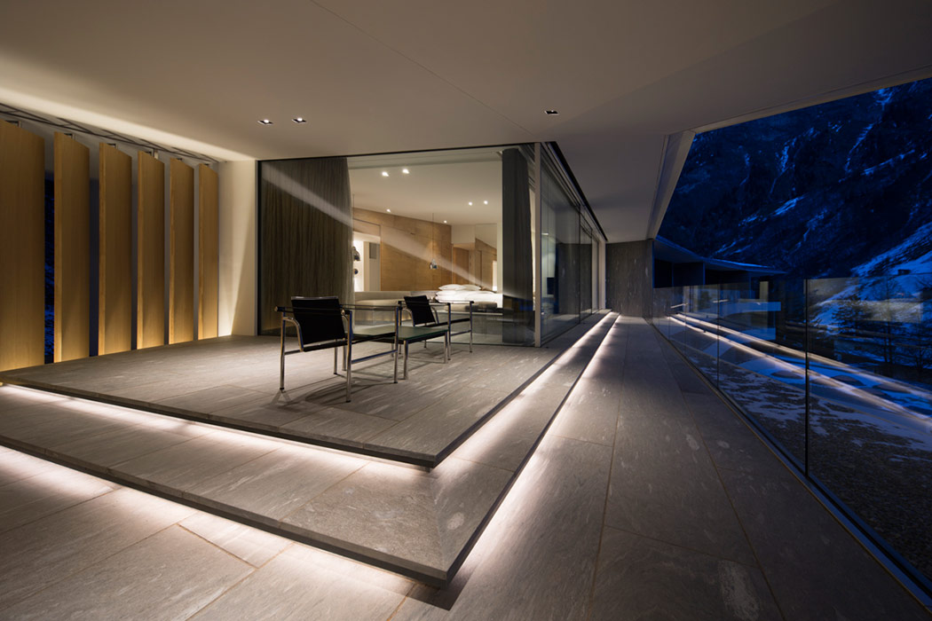 Therme suiteroom vals kengo kuma archeyes for Design hotel vals