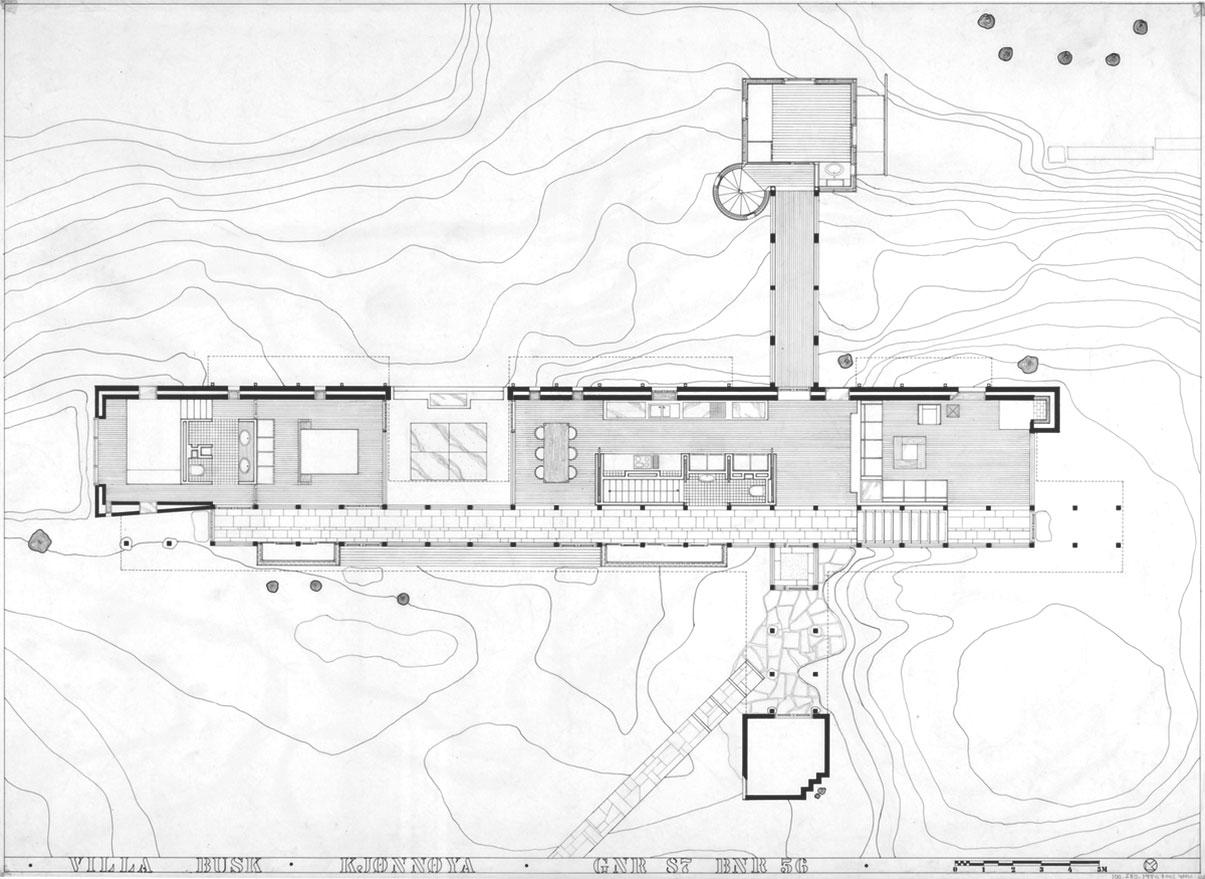 Floor Plan Villa Busk by Sverre Fehn