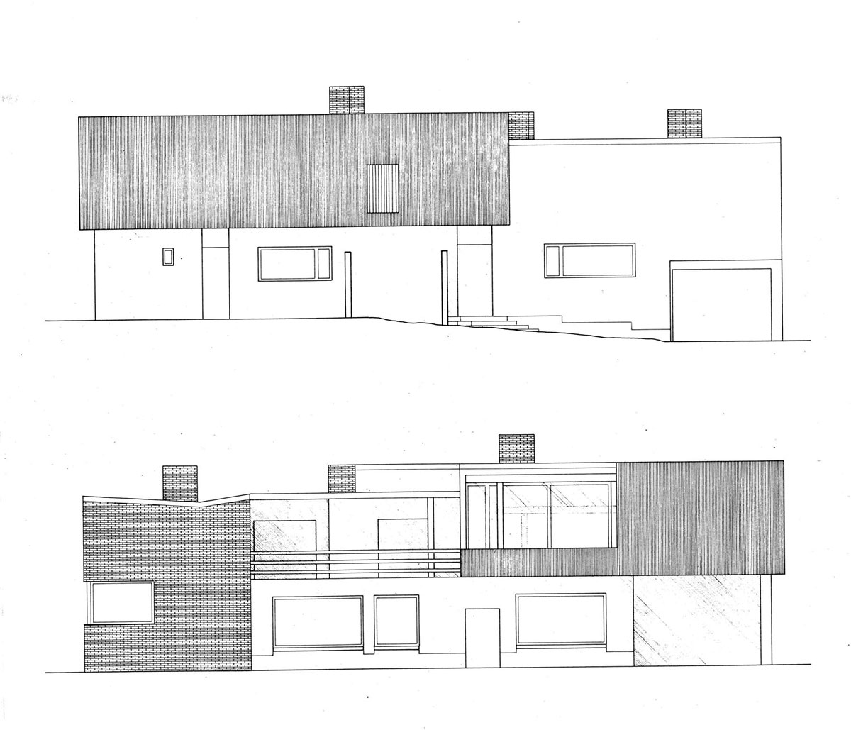 The Aalto House elevation