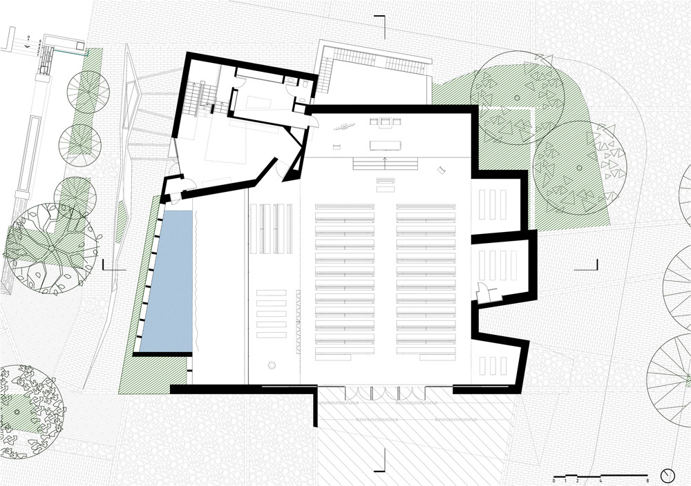 Parish Church in Pueblo Serena Plan
