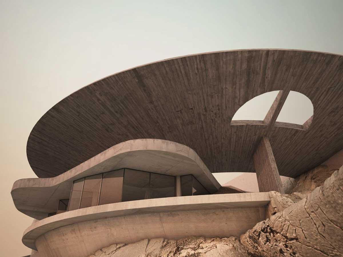 Arango Marbrisa House by John Lautner Facade