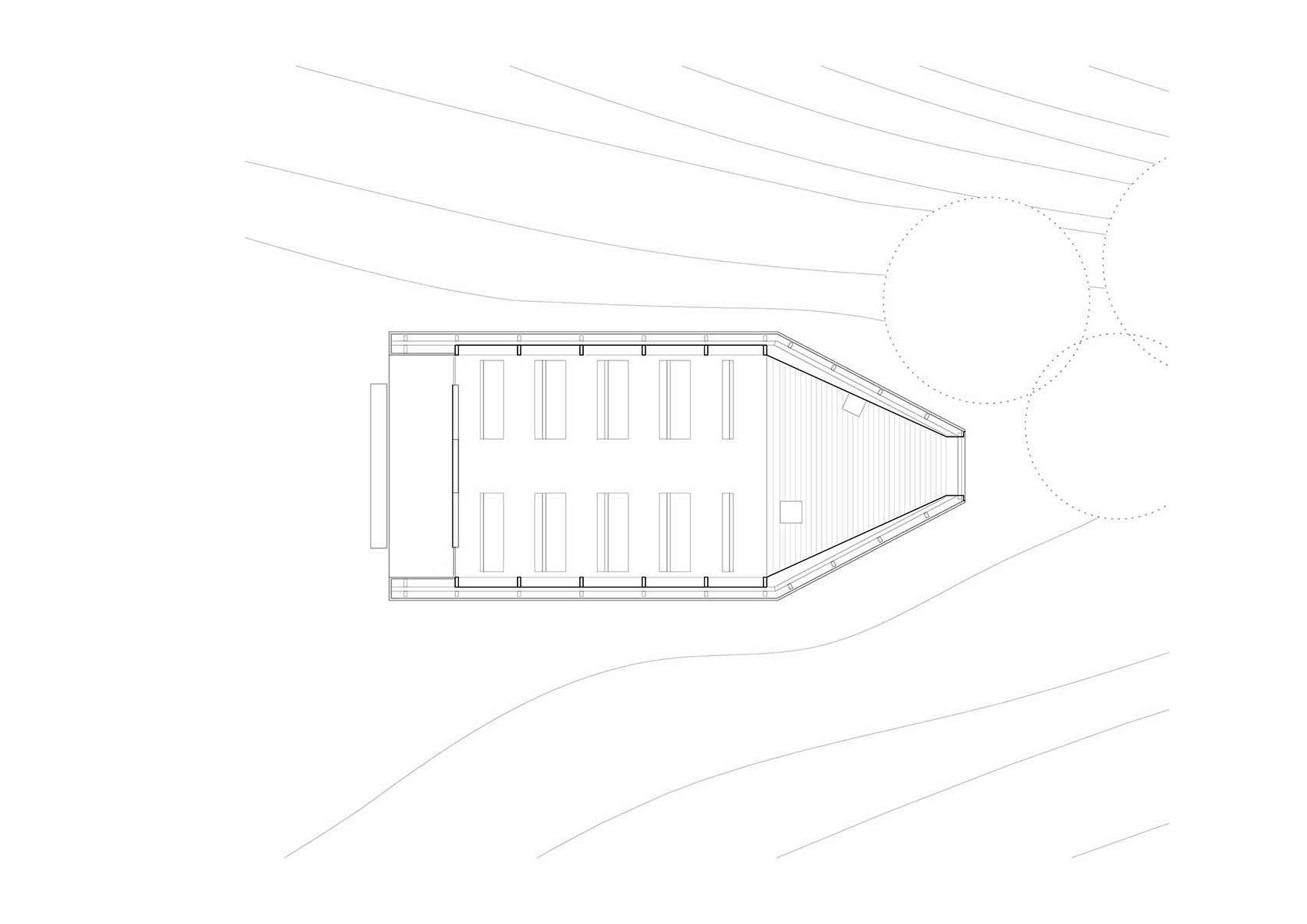 Floor Plan of Salgenreute Chapel by Bernardo Barder Architects