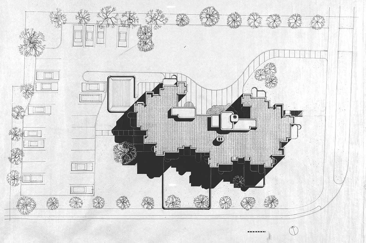 Crawford Manor Housing site plan by Paul Rudolph
