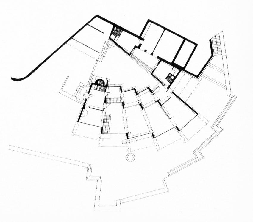 Floor Plan of Raventos House by Antonio Bonet Castellana