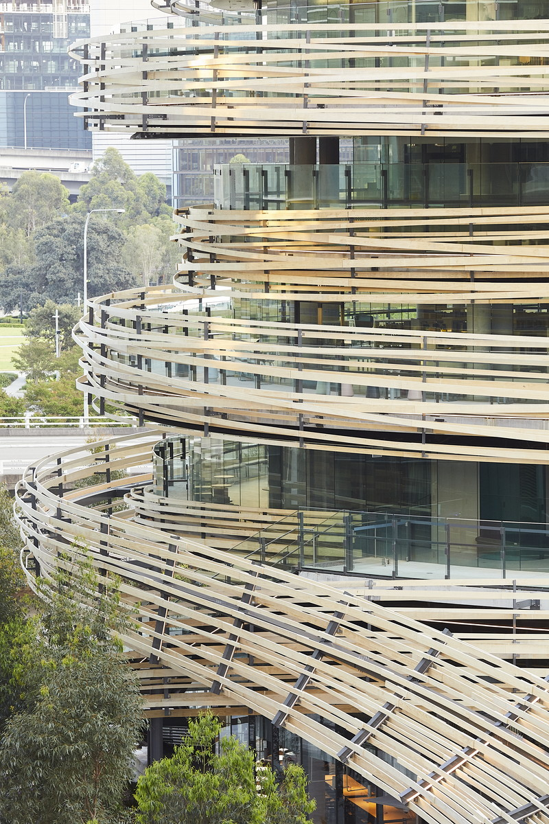 Round architecture at the Darling exchange by Kengo Kuma