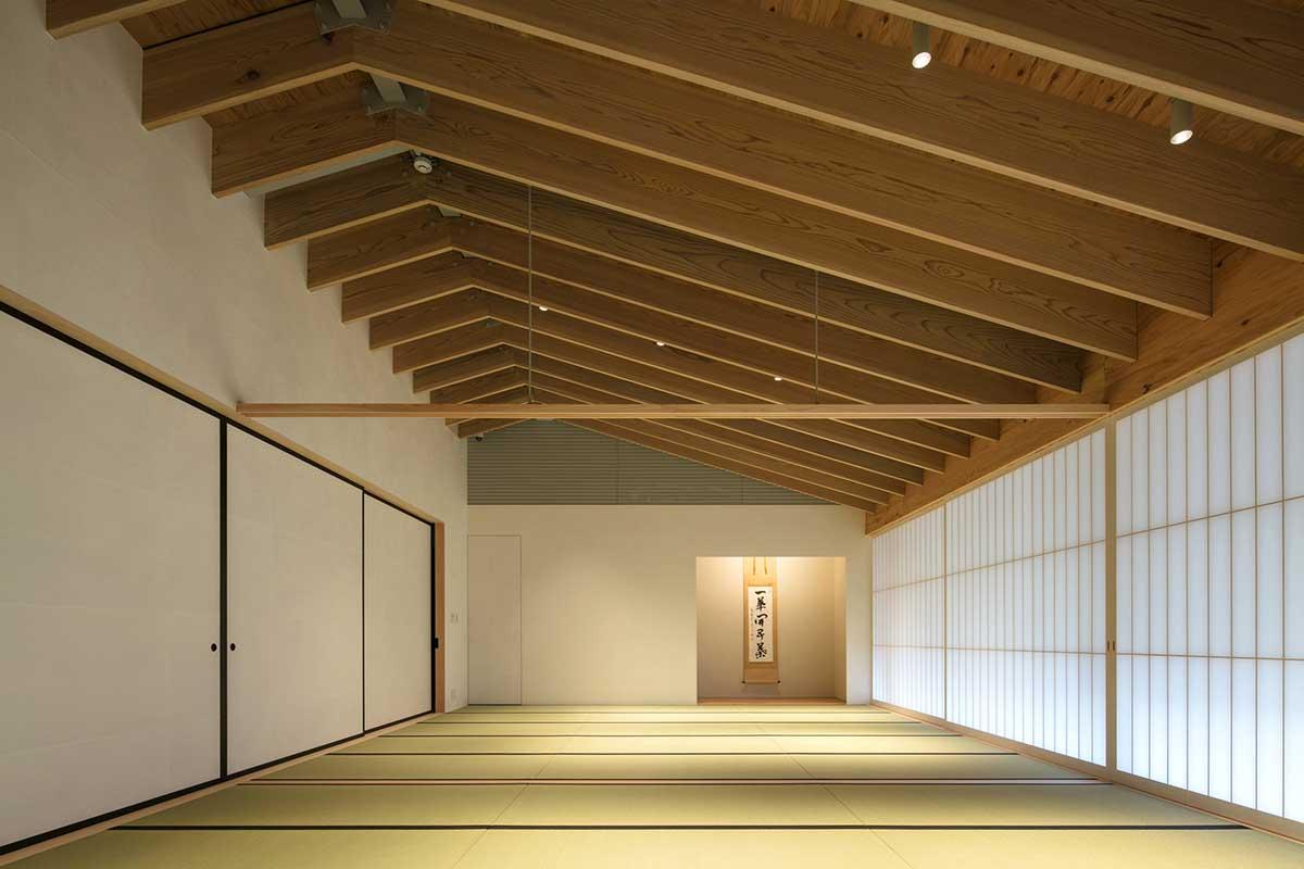 Interior of Japanese Temple by Kengo Kuma