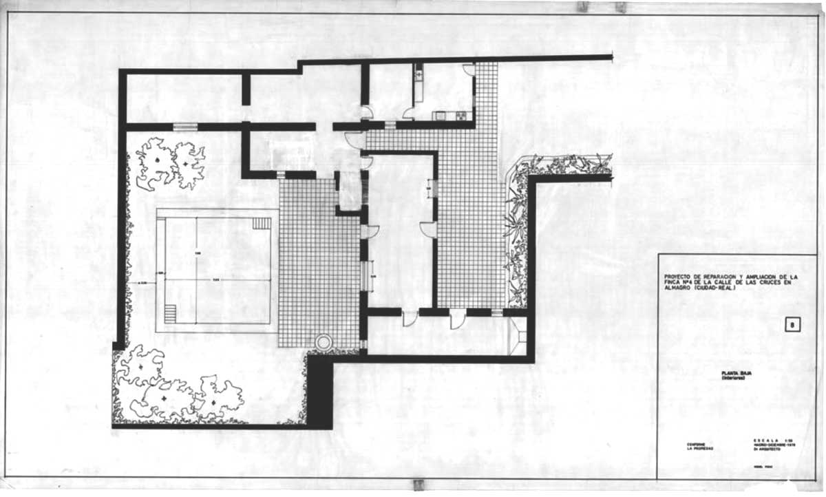 Fisac House Floor plan Miguel Fisac